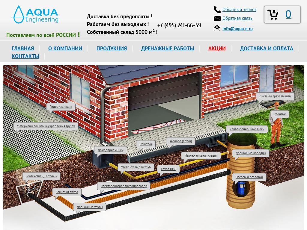 Скриншот интернет-магазина aqua-e.ru
