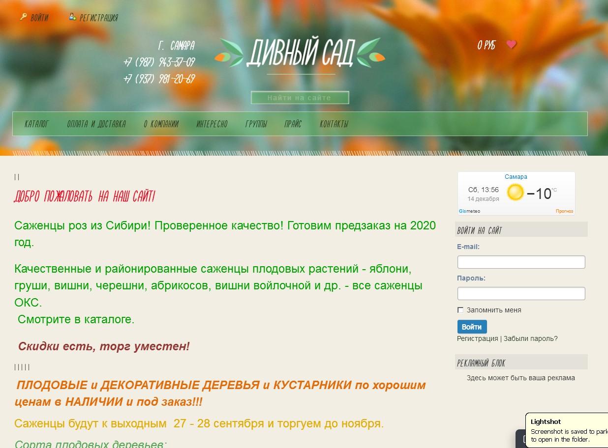 логотип divniisad.ru