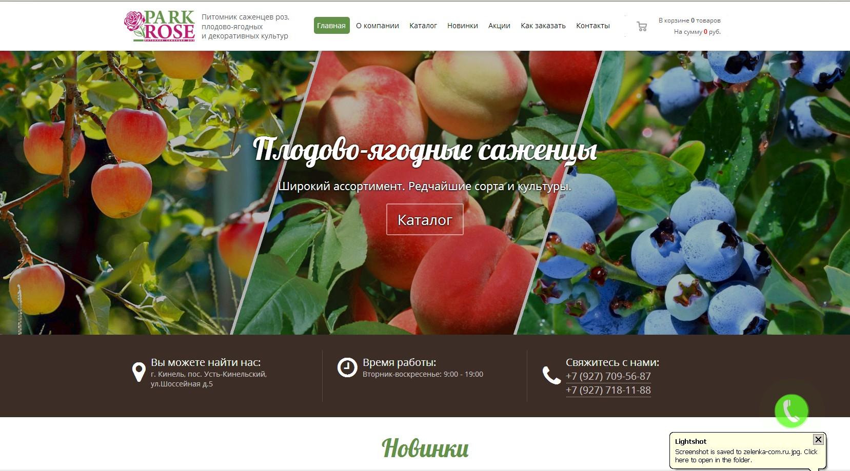 логотип parkrose63.ru