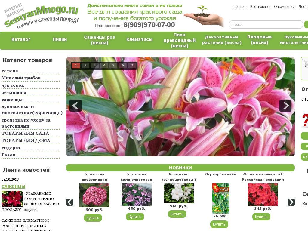 Скриншот интернет-магазина semyanmnogo.ru