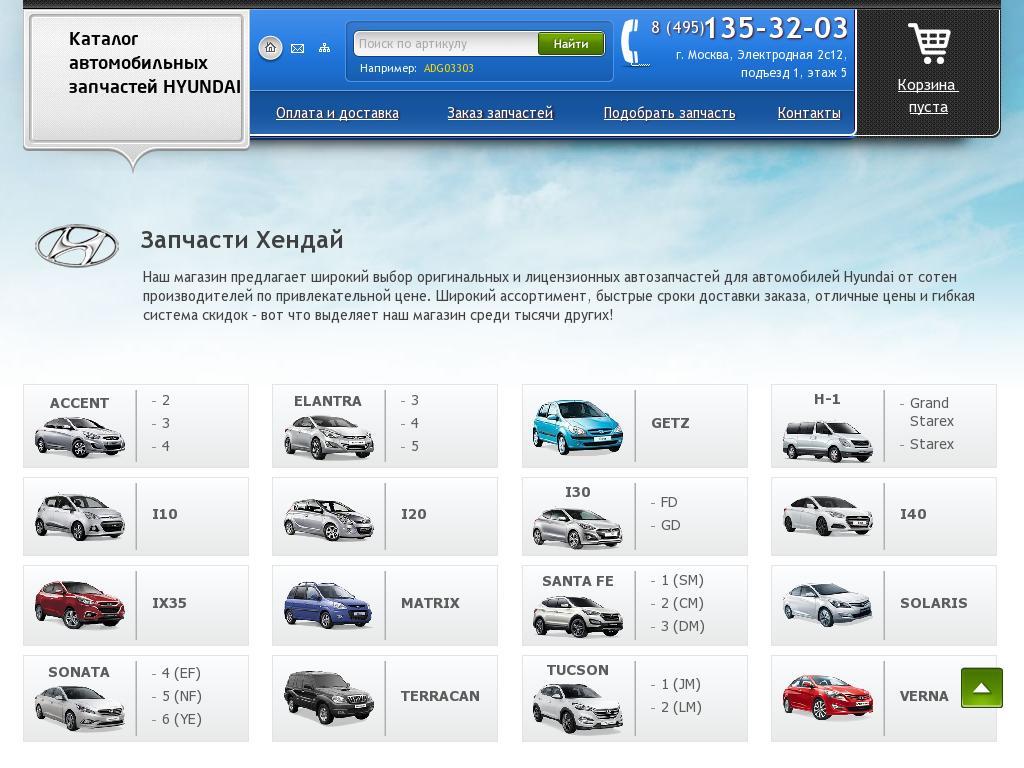 Скриншот интернет-магазина z-hyundai.ru