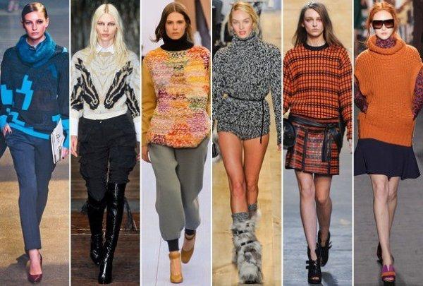Модные свитера и обувь в этом сезоне