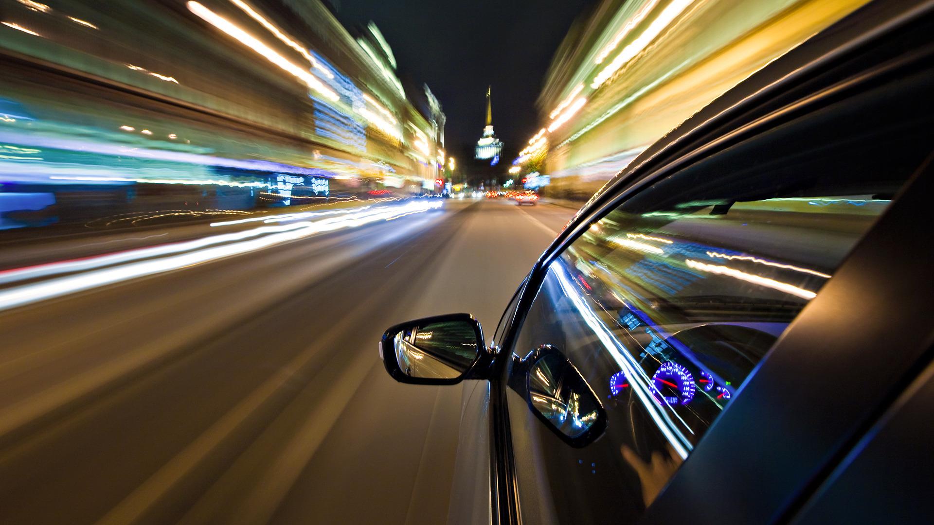Ночная поездка на автомобиле?