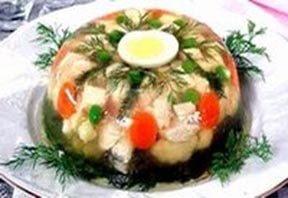 Салат Овощи в желе